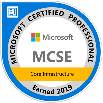 MCSE: Core Infrastructure - Certified 2019